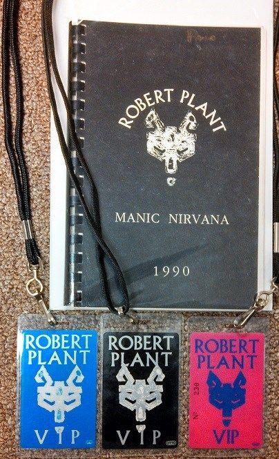 Led Zeppelin Robert Plant Tour Itinerary And Laminates Led