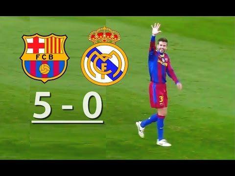 Barcelona Vs Real Madrid 5 0 Youtube Barcelona Vs Real Madrid Real Madrid Madrid Vs Bayern
