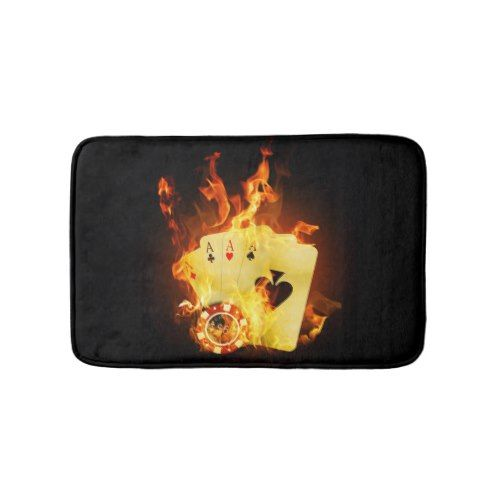 Burning Aces Bath Mats