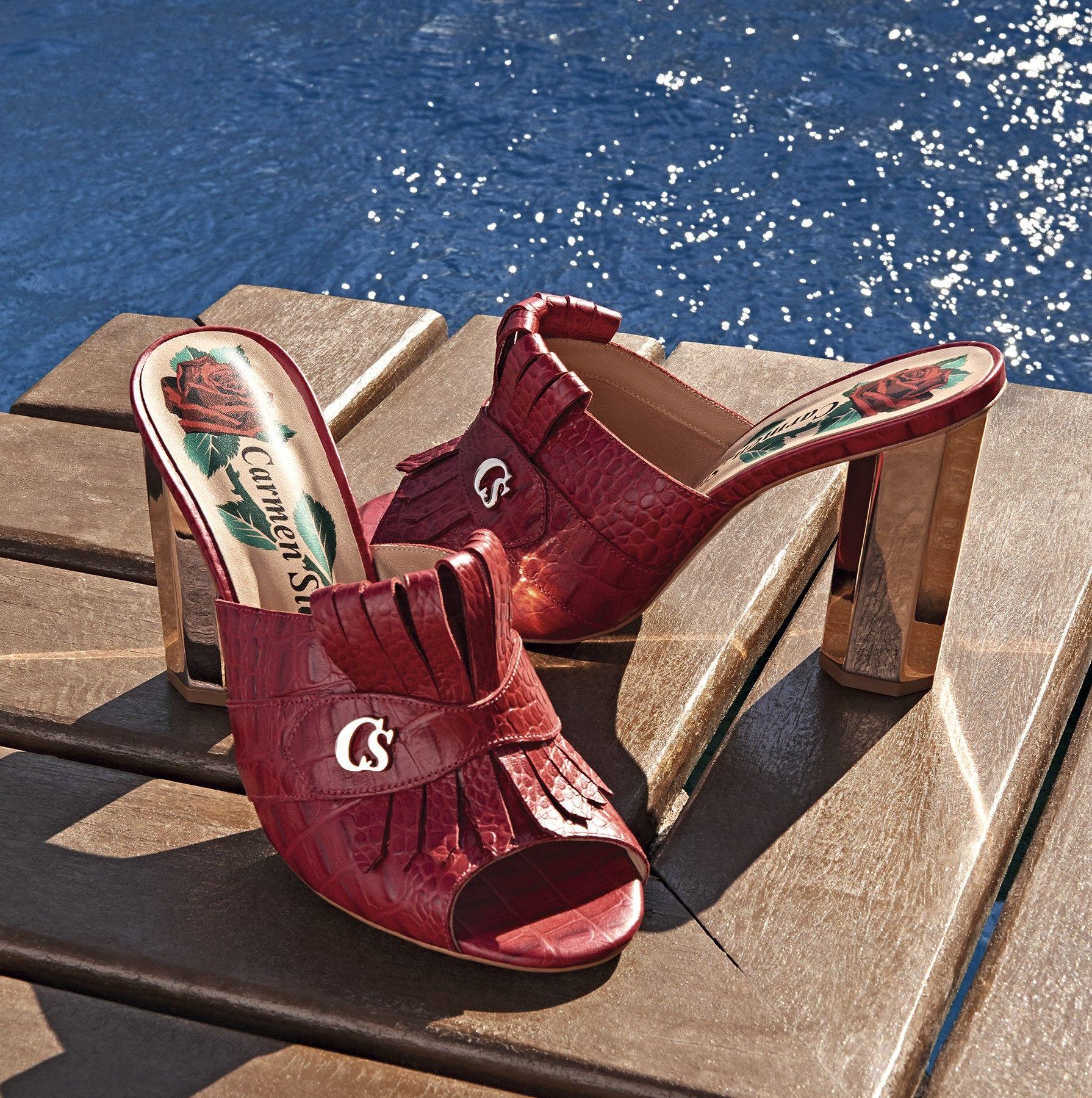 8d33fc069 Tamanco RED POWER Carmen Steffens! Roupas Exclusivas, Sapatos Fashion,  Saltos, Salto Alto
