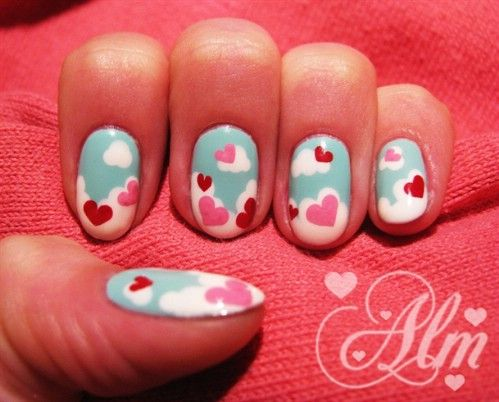 20 ridiculously cute valentines day nail art designs - Nail Art Valentines Day
