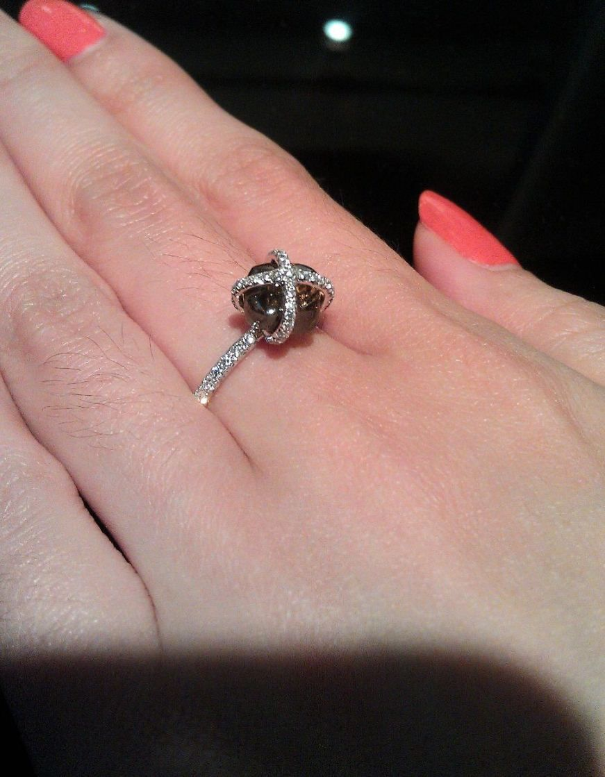 Every girl has her own style - this black rough diamond with white ...