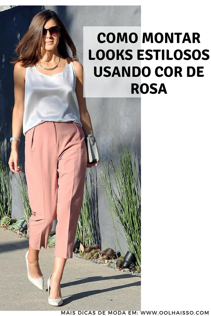 d4deffa42266c como usar calça social cor de rosa. 12 maneiras de usar cor de rosa no look  trabalho. look escritório sem perder o estilo. estilo romântico para  mulheres ...