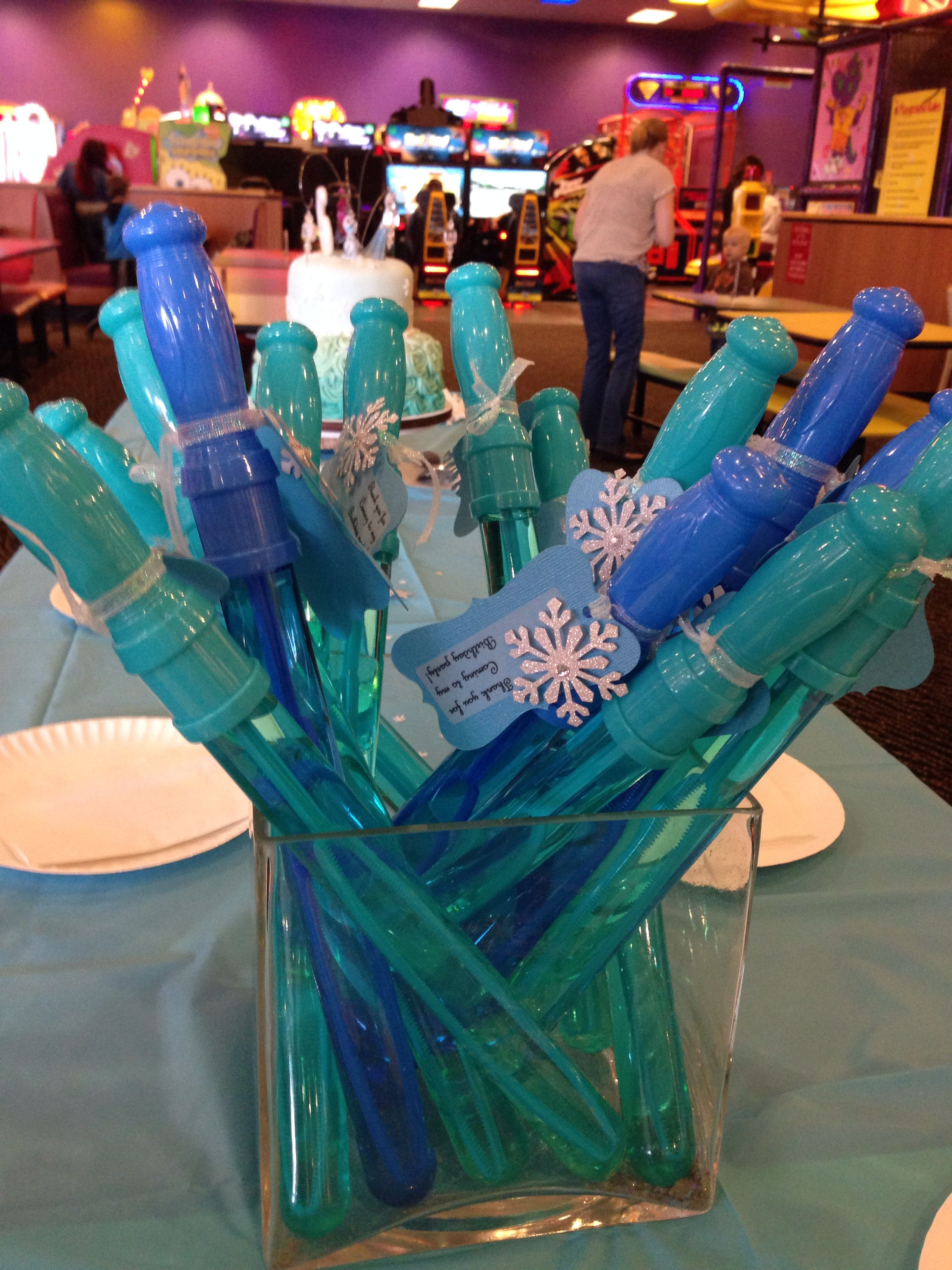 Party favors for Frozen themed birthday