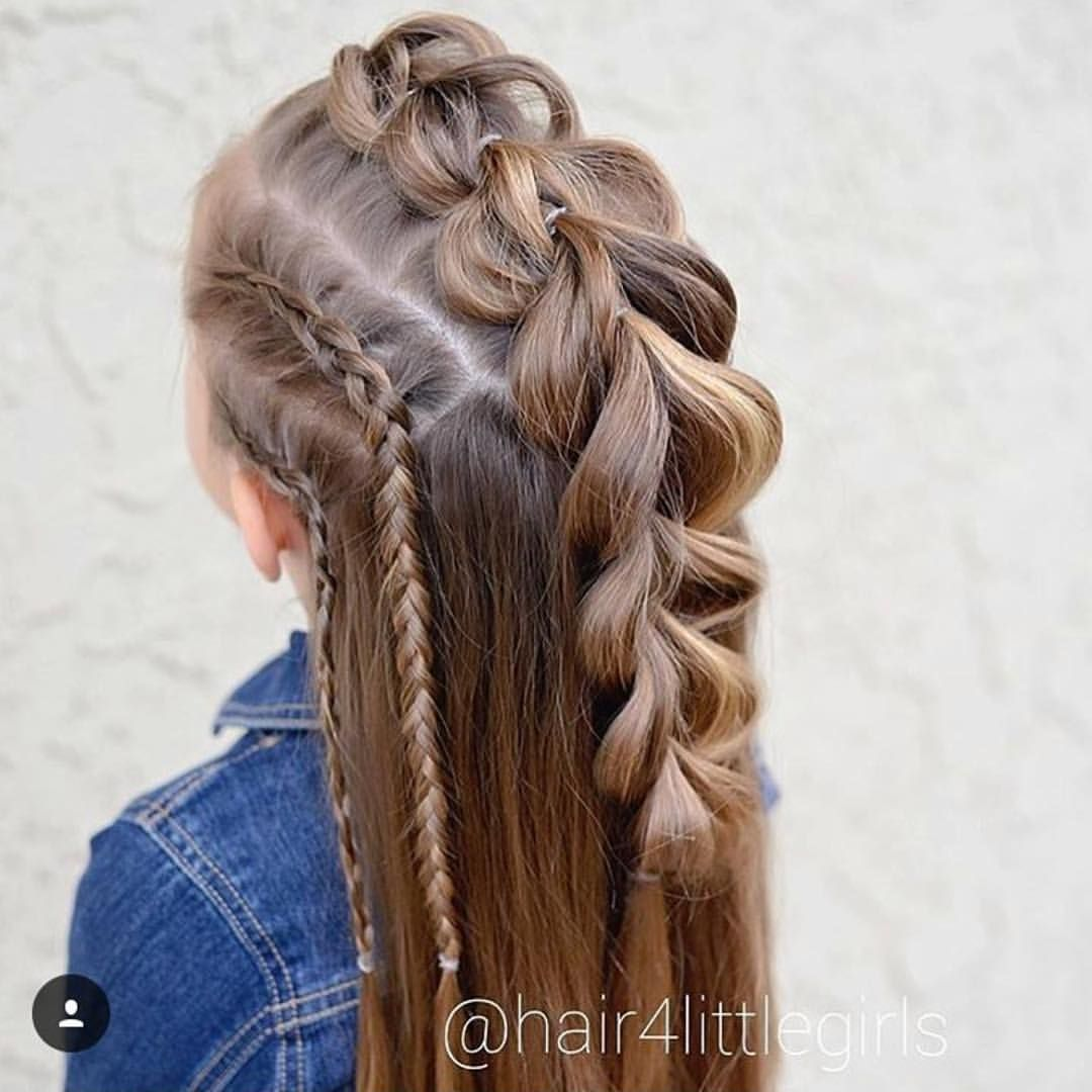 Pull through braid mohawk with side lace braids hairdos