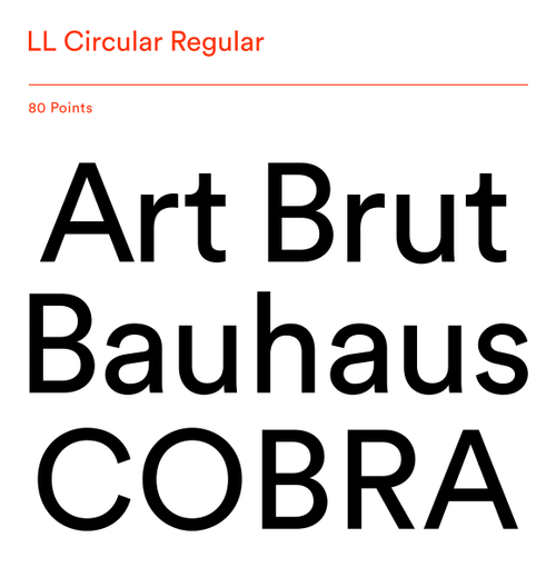 LL Circular by Laurenz Brunner for Lineto  |  Type of Life