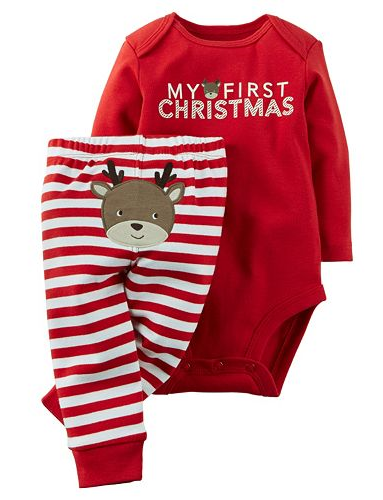 1690b7b28 Your little one will enjoy celebrating the holidays in this Carter's