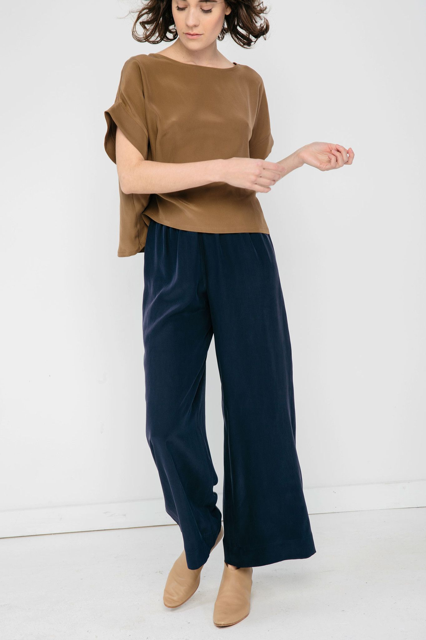 Silk Wear Suzann On Silk Elizabeth Crepe Pants Crushing xF6tYU