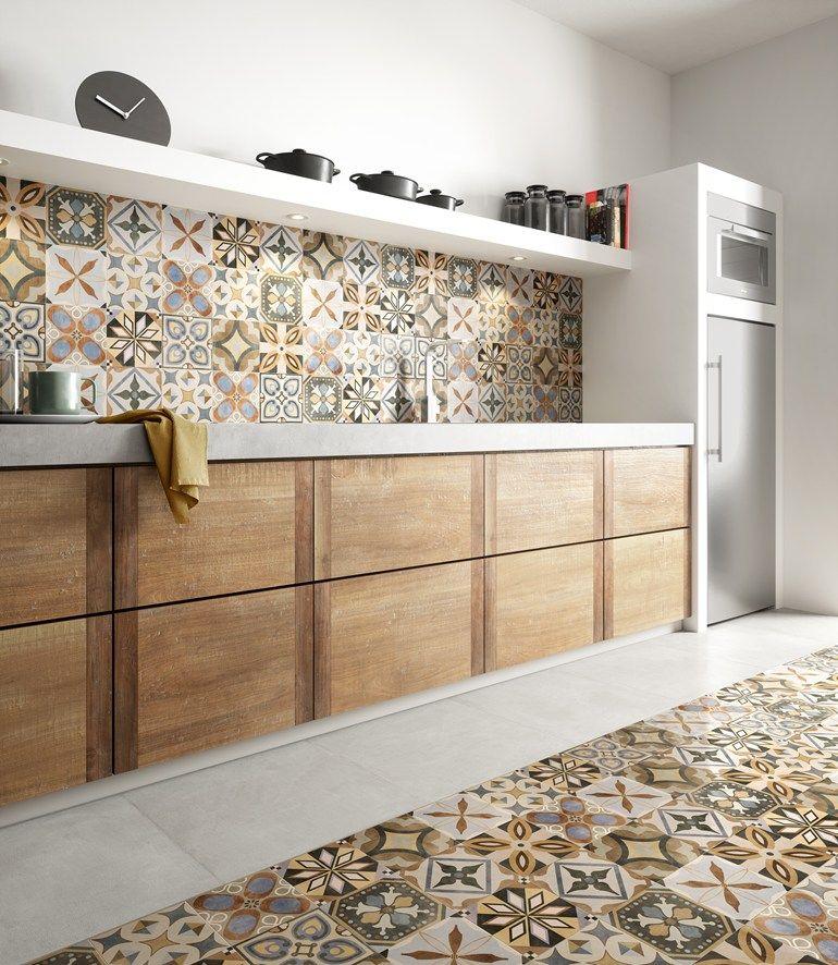 Todo menos esos azulejos Moroccan inspired contemporary kitchen - recouvrir carrelage mural cuisine