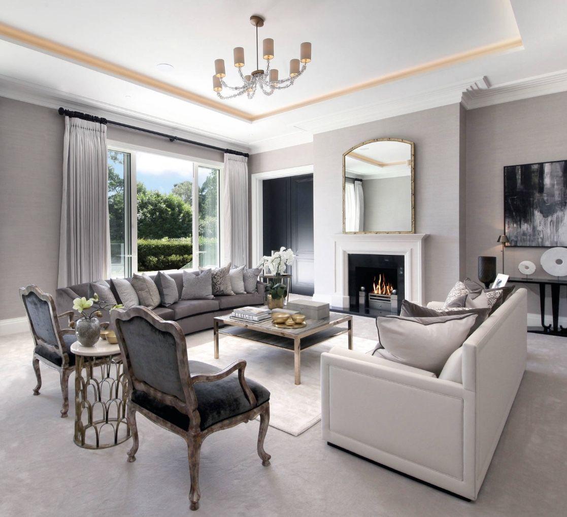 Luxury Art Deco Living Room Decor Grey