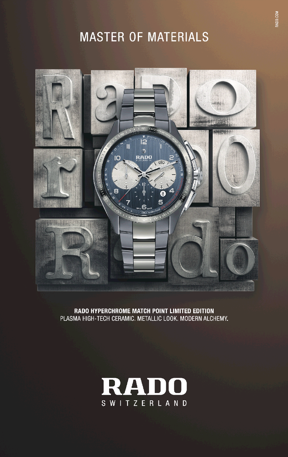 Rado Watches Myperchrome Match Ad Times Of India Mumbai Https Www Advertgallery Com Product Tag Watches Advertisem Luxury Watches For Men Rado Tag Watches