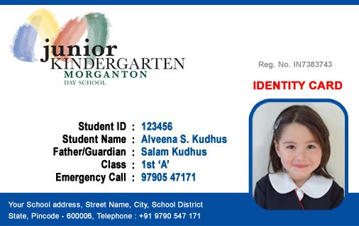 Beautiful Student ID Card templates Desin and sample word file