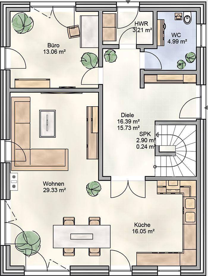 ᐅ Stadtvilla bauen ᐅ 165 qm Stadtvilla Grundrisse