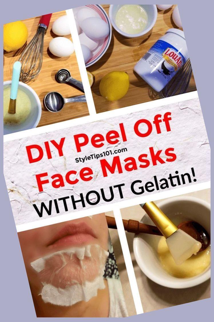 Blackheads DIY Face Gelatin Honey Mask Milk Peel