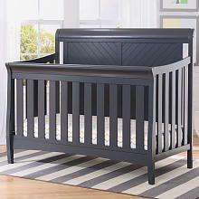 Delta Children Bennington Elite Sleigh 4in1 Convertible Crib Charcoal Grey Cribs Grey Crib Boys Nursery Crib