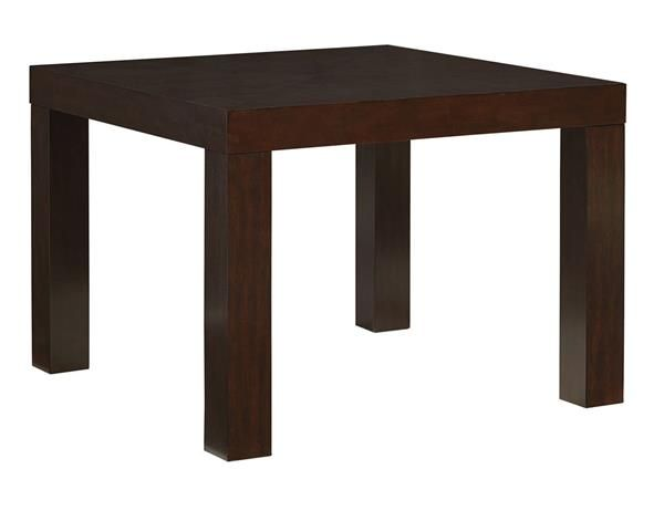 Couture Elegance Chocolate Wood 42 Inch Square Dining Table