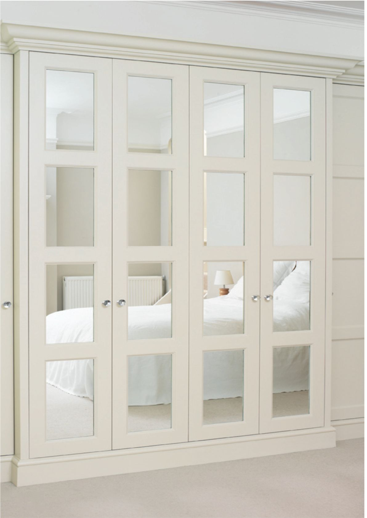 Beautiful master bedroom closets - I Really Like The Idea Of Having Closet Doors That Open Accordion Style Like These But It Would Probably Be Impractical Since The Door To The Spare Bedroom