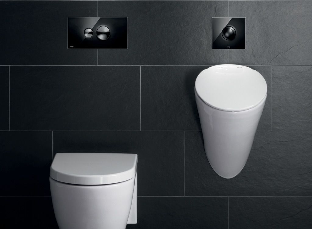 Urinoir In Badkamer : Hoogwaardige bedieningsplaat voor wc en urinoir: viega visign style