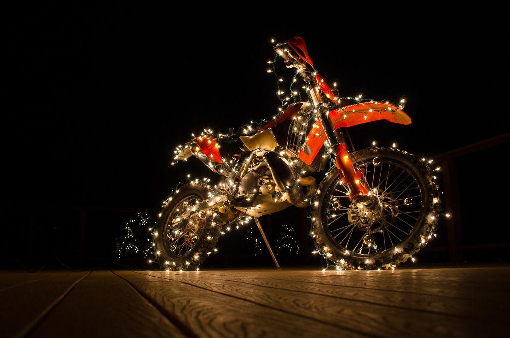 Christmas Lights On A Motorcycle El Taller Pinterest