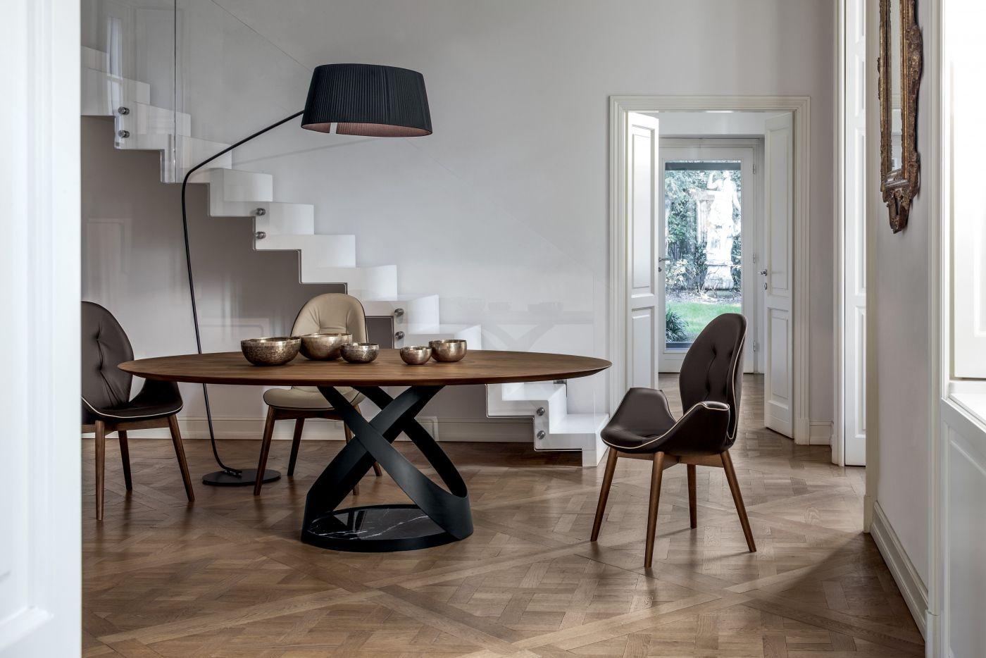 Rivalto Tonin Casa Lighting Haus Deko Esstisch Design Esstisch Oval