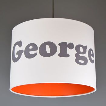 Childrens personalised name lampshade choice letter and lining childrens personalised name lampshade choice letter and lining colours aloadofball Image collections