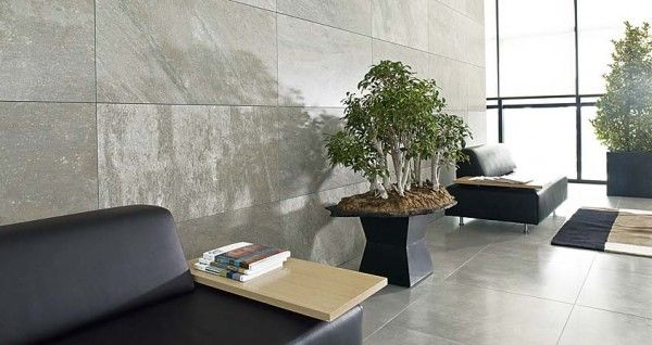Interior Tile Wall Lobby Porcelanosa Designs Distributes Contemporary Options Created With Natural Materials
