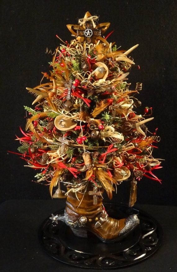Small Lighted Country Western Christmas Tree,Cowboy Tree ...