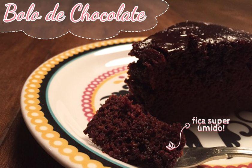Bolo De Chocolate Super Umido Com Altas Dicas Bolo De