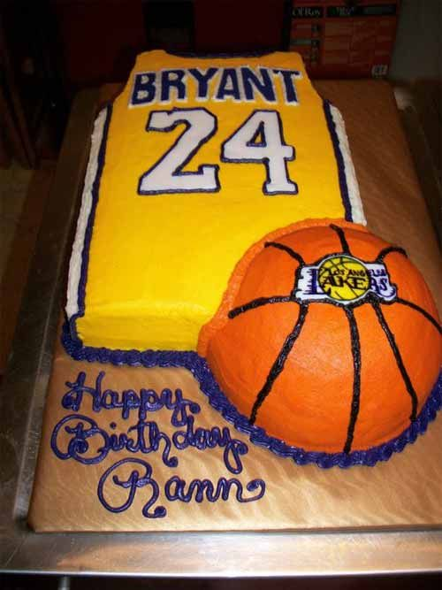 Los Angeles Lakers Kobe Bryant Cake Cake Decorating Pinterest