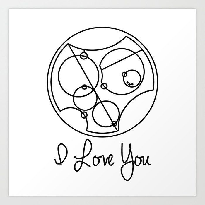I Love you Gallifreyan Doctor Who Art Print by beckiboos #gallifreyantattoo Mother Daughter tattoo