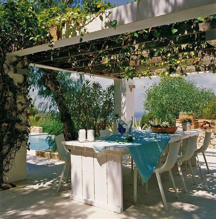 Jardin méditerranéen : 90 idées pleines de soleil   Pergolas
