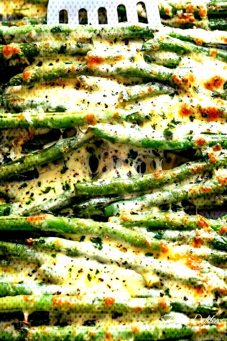 Green Beans are a delicious holiday side dish, roasted in olive oil, garlic and parmesan, then bak