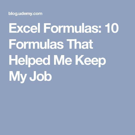 excel formulas 10 formulas that helped me keep my job computer