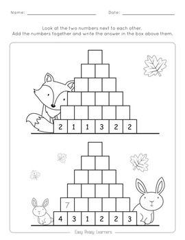 Pyramid Addition To 100 Worksheets Math For Kids First Grade Math Worksheets Kids Math Worksheets