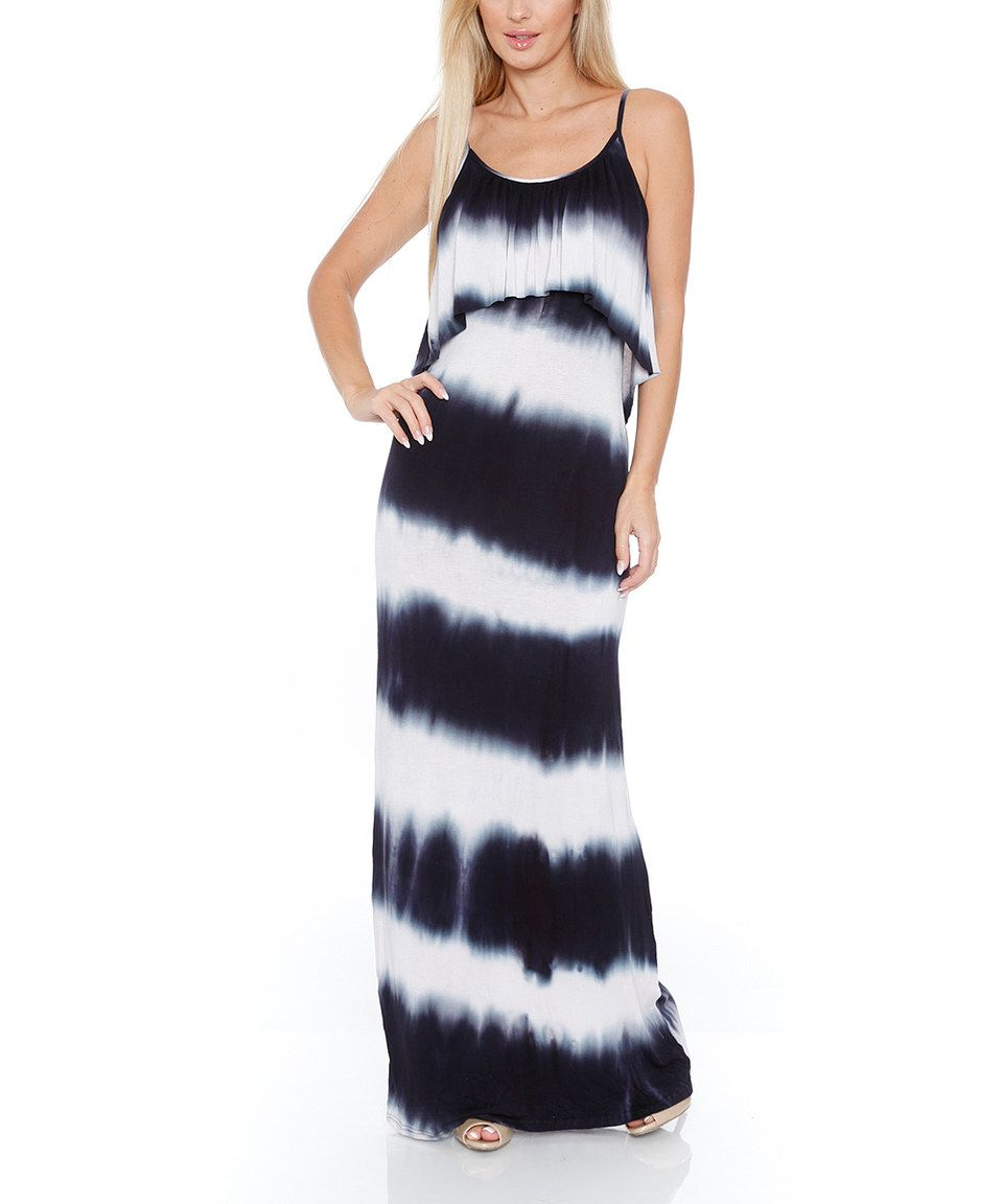 This White Mark Black & White Celisa Maxi Dress - Women by White Mark is perfect! #zulilyfinds