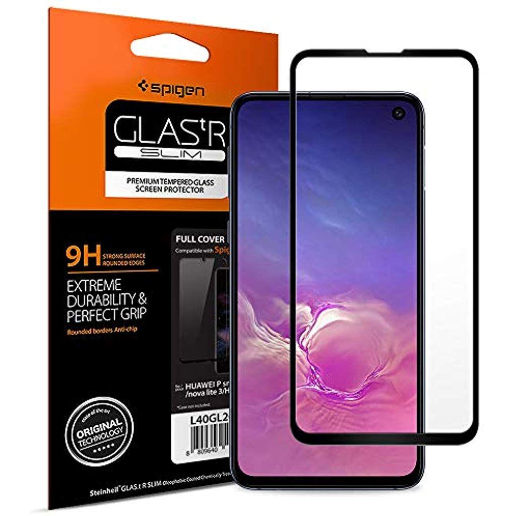 Spigen Panzerglas Schutzfolie Kompatibel Mit Samsung Galaxy S10e Hullenfreundlich Schwarz Volle Abdeckung 9h Gehartet Fingerprint Sensor Fotoapparat Ipad Air 2