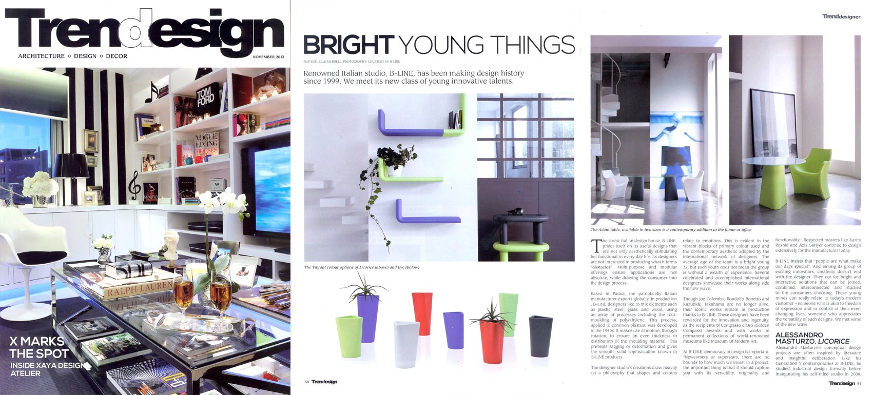 TRENDESIGN, architecture and decor magazine from Jordan speaks of us in November 2013 issue.