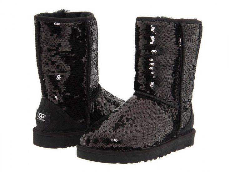 Ugg Women's Classic Short Sparkle Boots Black
