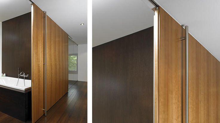 Brilliant Room Divider Utilizing Concealed Barn Door Hardware For Mounting Directly To The Ceiling T Frameless Glass Doors Modern Barn Door Making Barn Doors