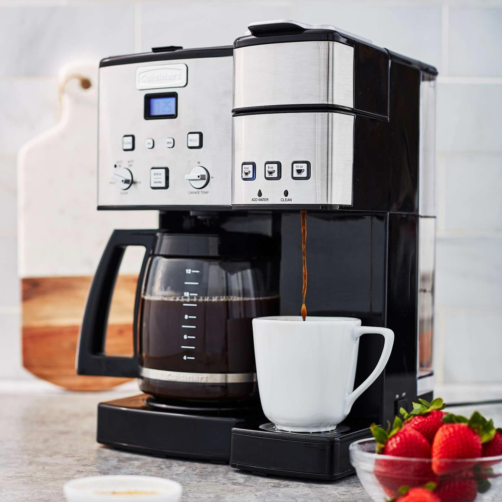 Cuisinart Coffee Center 12 Cup Coffee Maker And Single Serve Brewer Sur La Table Cuisinart Coffee Maker Coffee Drip Coffee Maker