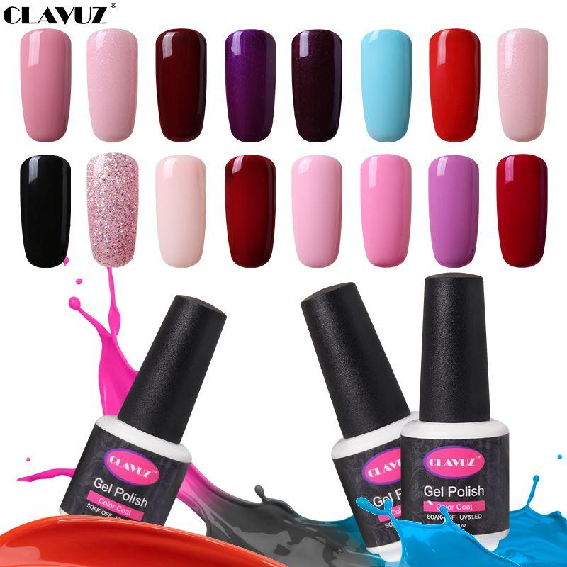CLAVUZ Pure 58 Colores de Uñas de Gel Polaco ULTRAVIOLETA del Gel ...