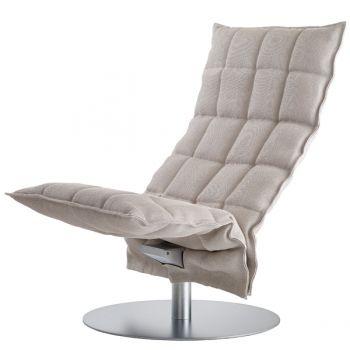 K tuoli, pyörivä, kapea, kitti-valkoinen