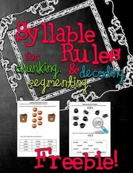 How about some practice on syllable rules that are usable? The ...