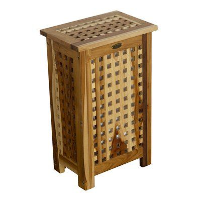 Ecodecors Storage Hamper Lattice Standard Solid Teak Deck Box Size