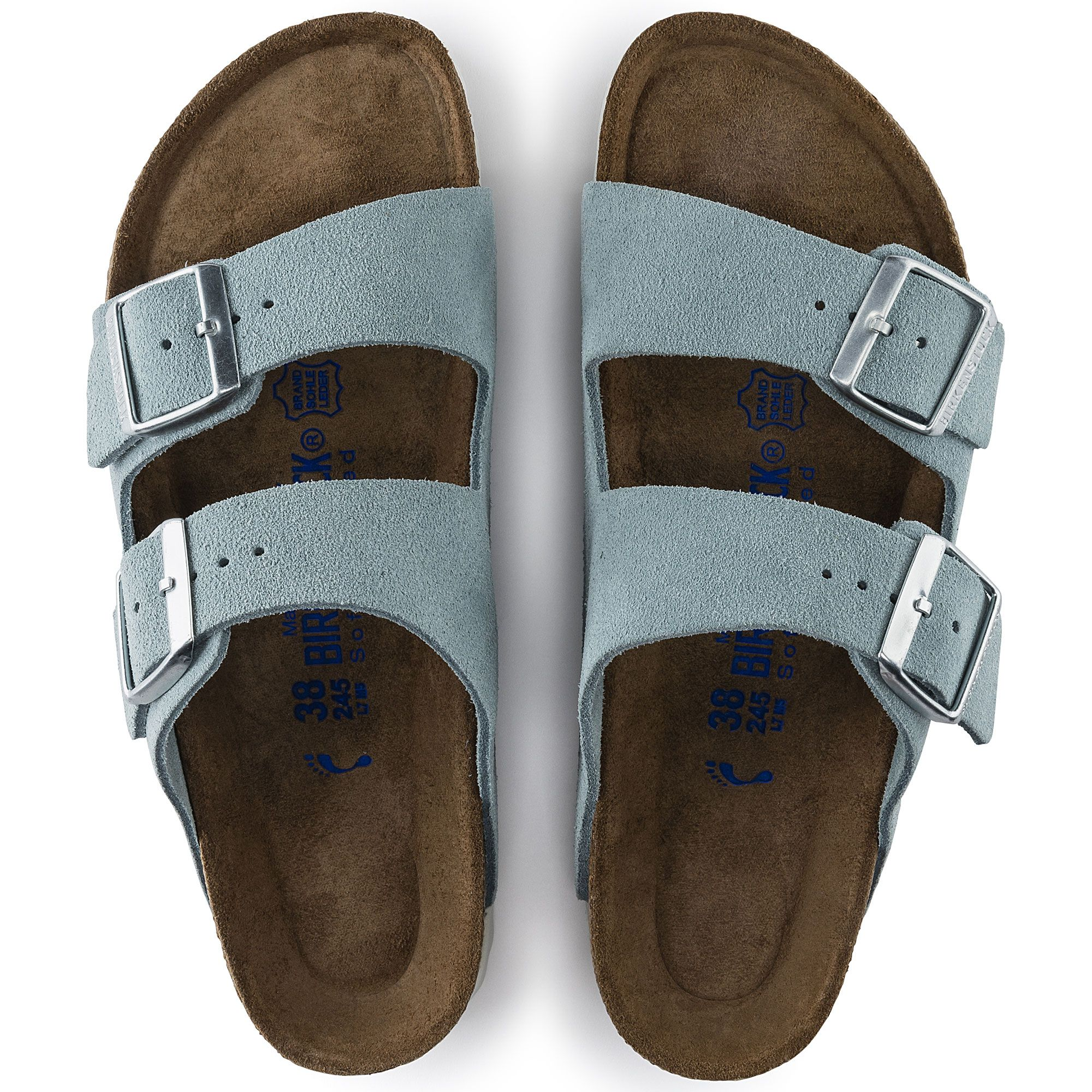 0c9e19d07793 Arizona Pelle scamosciata Soft Footbed Light Blue. Arizona Suede Leather  Soft footbed Light Blue Birkenstock ...