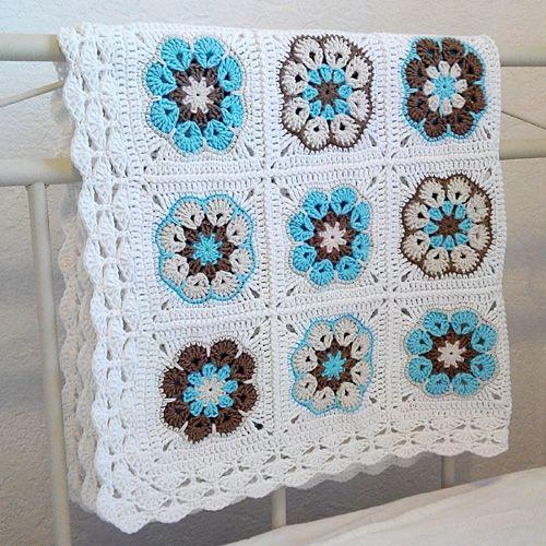 Crochet For Children African Flower Square Tutorial Crochetknit