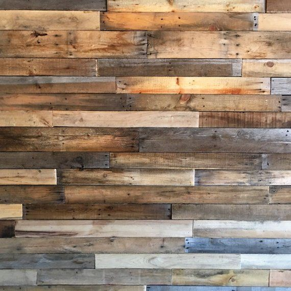 Sealed Reclaimed Pallet Wood Boards 25 Sq Ft Bundle: Beautiful Reclaimed Pallet Wood That Has Been Hand