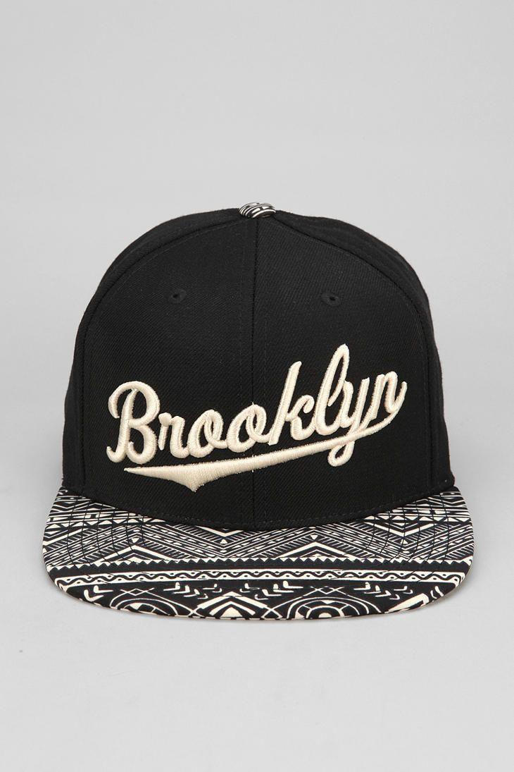 American Needle Geo Brooklyn Snapback Hat Random