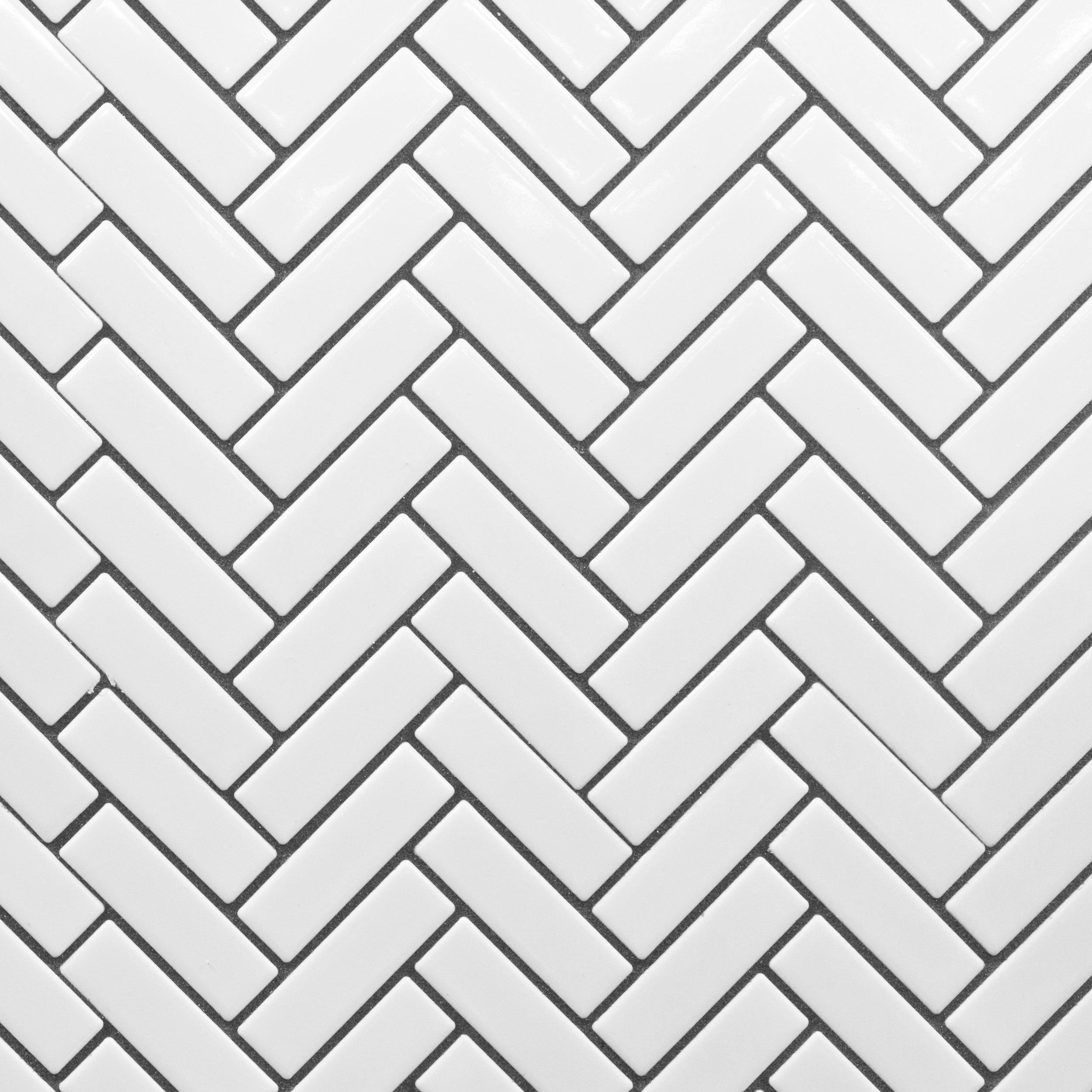 White Herringbone Porcelain Mosaic Floor Decor White Herringbone Tile Floor Herringbone Tile Floors Mosaic Flooring