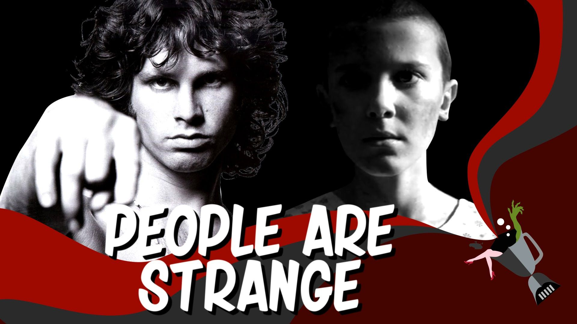 A Mashup of Stranger Things and The Doors Song \u0027People Are Strange\u0027  sc 1 st  Pinterest & A Mashup of Stranger Things and The Doors Song \u0027People Are Strange ...